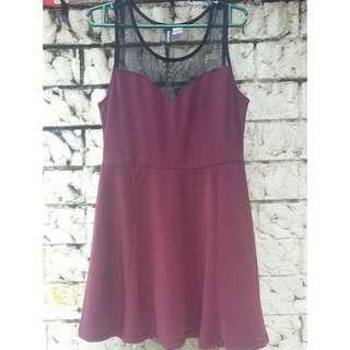 H&M Divided Dark Purple Dress