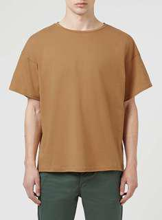 Brown Oversized Boxy Tshirt Size L