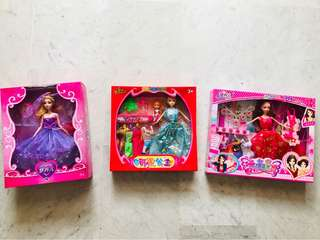 Dolls, all 3 for $25