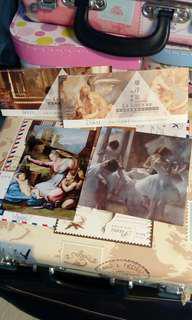 羅浮宮展覽 名畫家 名畫明信片