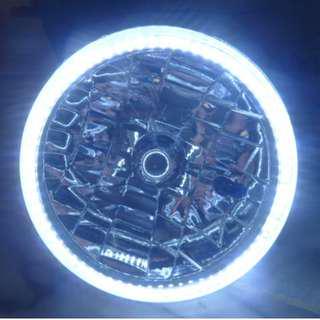 🚚 改裝 通用款 超亮LED光圈 7吋大燈 176mm圓大燈 mini T1 VERITA適用 台灣製造