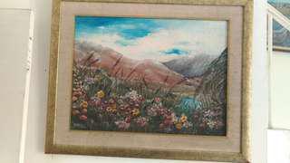 Lukisan alam  + frame nya yaa 😉 (ukuran 100x80)