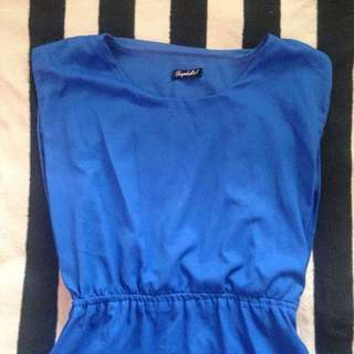 Shopaholic Royal Blue Dress