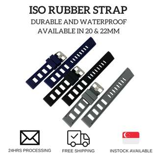 🚚 ISO rubber strap (available in 20 and 22mm)