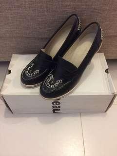 1折 全新 Mercibeaucoup 黑色 真皮 高踭鞋 size 0