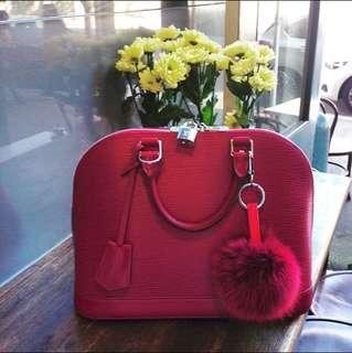 *PRICE REDUCTION* Louis Vuitton LV Alma PM in Fuchsia Epi leather