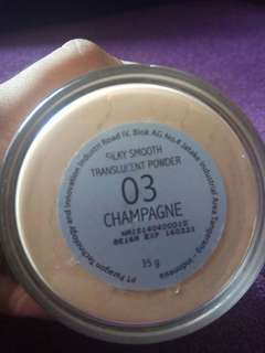 make over silky smooth translucent powder shade champagne (03)