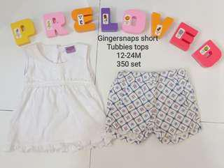 Gingersnaps short and Tubbies top