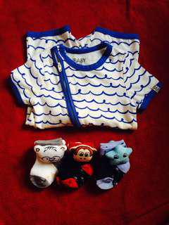 6-12M Romper with New Freebies