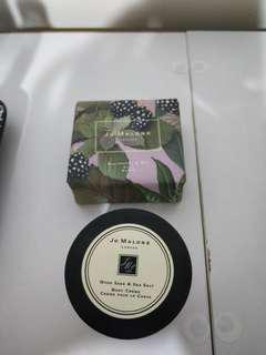 jo malone wood sage body creme and blackberry bay soap