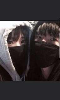 🚚 Black mouth mask