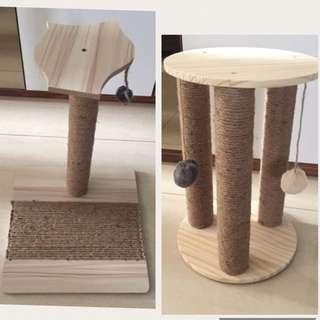 (New!) cat sisal scratch pole house