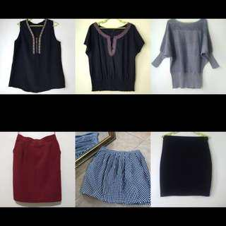 S-M Tops and Skirts Set