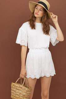 H&M 15% off white lace top