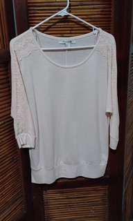 Forever 21 pink top with lace detailing