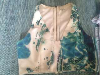 Women's quirky printed crop top, size 10 Ava brand great condition