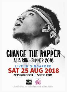Chance The Rapper • Asia 2018 • Singapore