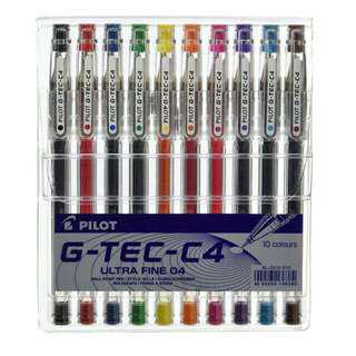 Pilot G-Tec C4 10 colours set