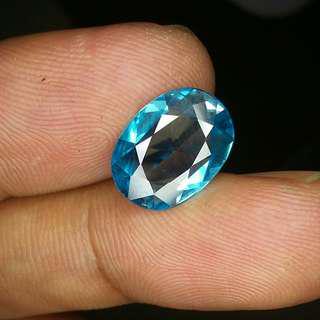 Natural Blue Zircon 4.93 crat clean