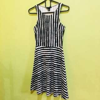 H&M Black White Dress