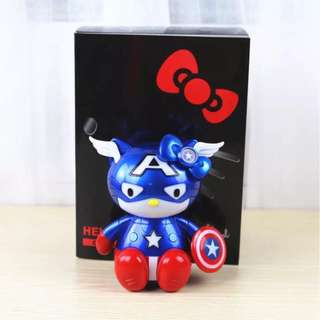 Hello Kitty Captain America Figure with Light