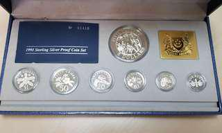 1991 Singapore Silver Proof Coin Set