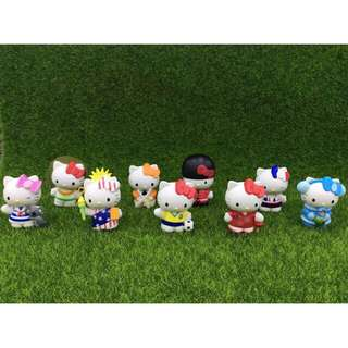 Hello Kitty Figures set of 9 Countries