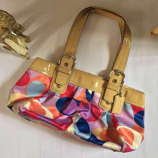 Coach Multicolor Hand Bag (AUTHENTIC)