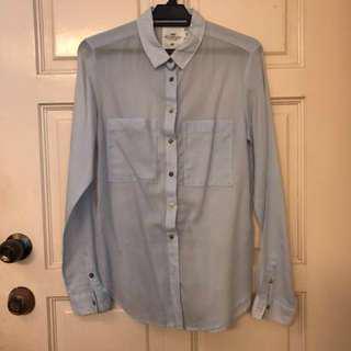 H&M light blue cotton shirt EUR34/XS