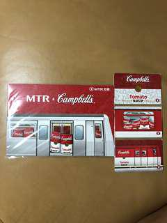Campbells 金寶湯 紀念車票 港鐵 MTR 全新