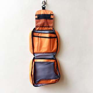Orange Toiletries Bag