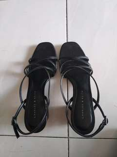 REPRICED! FREE MM SF Charles & Keith strappy block heels