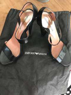 EMPORIO ARMANI black heels made in Italy