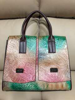 🚚 鱷魚皮手提包