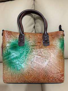 🚚 鱷魚皮紋手提包(全新未使用)