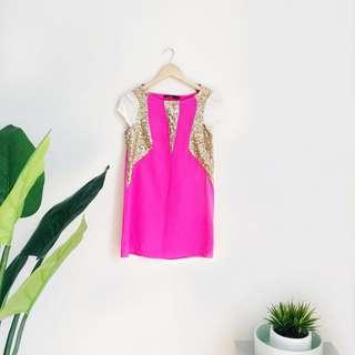 Fuchsia Shift Dress (New!)