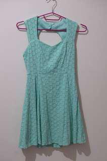 Forever 21 Blue green Skater Dress