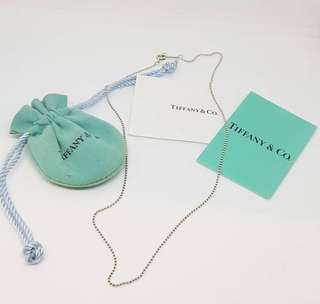 """Authentic preloved tiffany co bead necklace 16"""""""