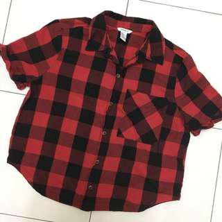 Checkered Shirt (Crop-top)