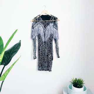 Silver Fringed Dress