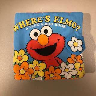 (包郵) Where's Elmo 兒童布書