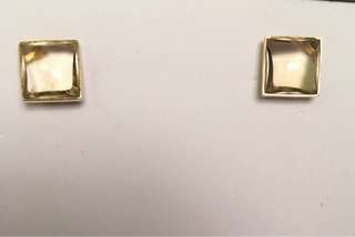 Earrings with gold and Brazilian stones
