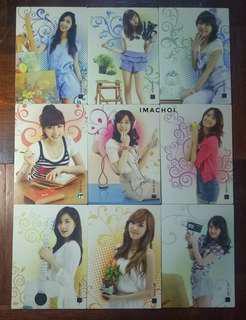 SNSD Star Card Season 2.5 Full Set Base Cards #2 (118-126)