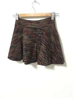 🚚 混色毛料短圓裙