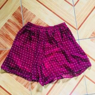 Red Polka Dot Short / Skirt / Skort