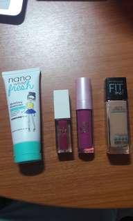 🚚 FREE MAILING! Authentic Makeup Bundle + Foldable Fan