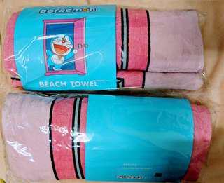韓國原裝 哆啦a夢 小叮噹 海灘巾 浴巾 Beach Towel 艾茉莉太平洋 獨家