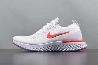 Nike Epic React Flyknit 'White / University Red'