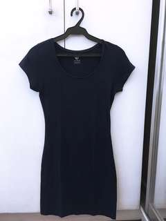 COTTON ON Navy Blue Casual Body-fit Dress