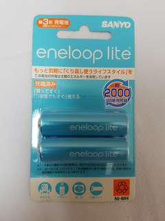 Sanyo Eneloop Lite Rechargeable Battery AA (for Tamiya Mini 4WD & etcs)